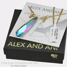 Authentic Alex and Ani Crystal Infusion Galaxy Swarovski14kt GP PENDENT NECKLACE