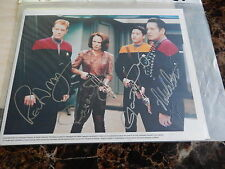 STAR TREK TOM PARIS, BELANNA, KIM AND TUVOK 10 X 8 AUTOGRAPHED PHOTOGRAPH (2)