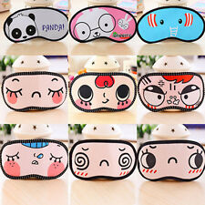 1Pc Random Sleeping Eye Mask Blindfold Shade Sleep Aid Cover Light