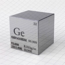1 inch Germanium Metal Cube 6 Sides HAND-POLISHED 99.999% 87grams Element Sample