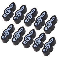 10pcs Black Stationary Music Note Rubber Eraser Gift