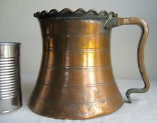 """Antique Solid Copper Iranian Wedding Cup 1870 Hand-Forged 7"""" Tall Stunning Iran"""