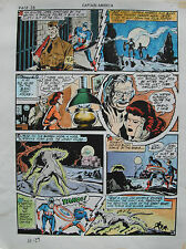 JACK KIRBY Joe Simon CAPTAIN AMERICA #10 pg 29 HAND COLORED ART Theakston 1989