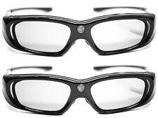 2x 3D Brille Hi-SHOCK® DLP Pro 6G Black Space für Beamer von Benq, Optoma