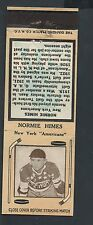 1935-36 Diamond Hockey Matchcover-Normie Himes-New York Americans