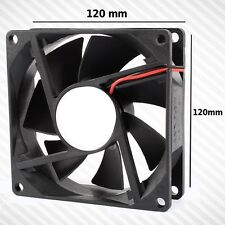 VENTOLA RAFFREDDAMENTO 120 MM PC CASE NERA BLACK SILENZIOSA SPEED MOLEX  12V FAN