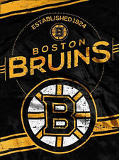 NHL Boston Bruins Plush Throw Blanket Twin Size 60x80