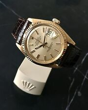 1970s 18k solid gold men's Vintage 1601 Rolex Datejust Orologio