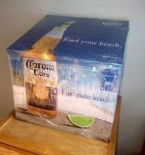 (L@@K) Corona Beer Beach Cooler Metal Ice Chest Bar Man Cave game room patio new
