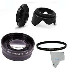 2.2x  Telephoto LENS + UV FILTER +HOOD + CAP FOR D7100 D3200 D3300 D5100 D5300