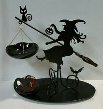 Yankee Candle Witches Ball Silouhette Flying Witch Hanging Tart Warmer Burner!