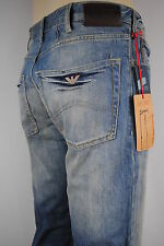 NEW MENS Armani Jeans J45/1G  regular fit Vintage wash denim jean SIZE EU 34