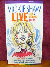 Vickie Shaw Live Sick & Wrong Tour VHS Video Texas Lesbian Comedian Gay Interest