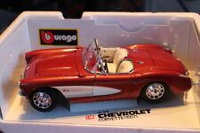 1:18 Modellauto BBURAGO Burago Chevrolet Corvette 1957 Kuper selten! #3034 OVP