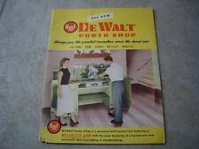 1954 New DeWalt Power Shop Advertising Catalog & 1954 Price guide Power Saw AMF