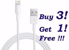3 x USB Data Sync Wire Charger Cable Cords Only iPhone 5C 5S 5 / 6 / 6 Plus NEW!