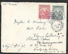 Barbados covers 1932 Shipcover Paquebot/Plymouth