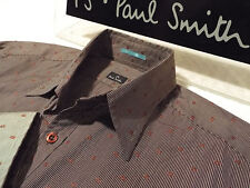 """PAUL SMITH Mens Shirt �� Size S (CHEST 38"""") �� RRP £95+ �� PATTERNED STRIPES"""