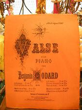 Partition Valse pour Piano Benjamin Godard