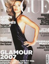 VOGUE UK April 2007 KATE MOSS Anja Rubik ANGELA LINDVALL Milla Jovovich @Very G@