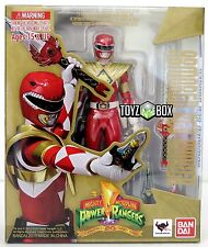"In STOCK S.H. Figuarts Mighty Morphin Power ""Armored Red Ranger"" Action Figure"