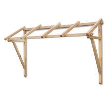 Pensilina in legno nordico trattato esterno 205x70cm arredo giardino OPOLE205