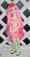 """DOLL Wig, Monique Gold Adorabel """"Pixie"""" Size 4/5 in PINK (With bangs)"""