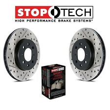 Honda Civic DX LX EX Front StopTech Drilled Slotted Brake Rotors Sport Pads Kit