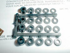 "1960 Black Nylon Axle Spacers for 1/8"" Axles #4220 COX NOS 4 ea of 5 diff size"