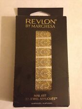 NIB Revlon by Marchesa Limited Ed.  Nail Art 3D Jewel Appliques GILDED MOSAIC