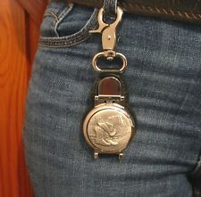 Cowboy Boots & Hat Design Belt Clip Pocket Watch Line Dancing Father's Day Gift