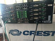 Crestron DM-MD8X8 switcher w DMC-CAT DMC-VID DMC-CATO-HD LOADED IN AND OUT CARDS
