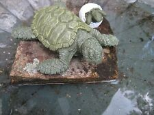 Sea Turtle with Hatching Turtle Egg Concrete Statues, Painted Cement Figures