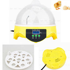 Digital Chicken Duck Bird Hatch 7 Egg Capacity Mini Incubator Tool NEW