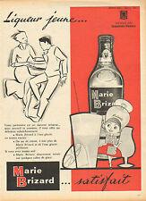 Publicité  Advertising   Marie Brizard  Liqueur jeune  ...
