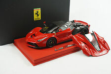 1/18 BBR FERRARI LAFERRARI OPEN ENGINE ROSSO CORSA RED DELUXE BASE LE 10 PC MR