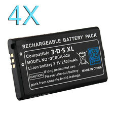 4X 2500mAh Rechargeable Li-ion Battery Pack for Nintendo 3DS XL +Screwdriver New