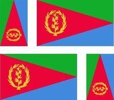 4x Adhesivo adesivi pegatina sticker vinilo bandera vinyl moto coche eritrea