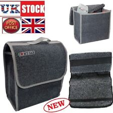 Boot Organiser Small Car Van Grey Carpet Storage Bag Tools Breakdown Travel Tidy