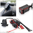 Waterproof Motorcycles 2.1A Dual USB Power Outlet Port Mobile Phone Charger Kit