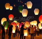 1/5pcs Sky Flying Paper Lanterns KongMing Lucky Light Wedding Assorted Colors O
