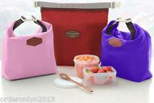 Insulated Lunch Food Tote Pouch Bag (Baby Pink)