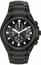 Citizen CA0265-59E Men's Eco Drive Black Titanium Black Dial Chronograph Watch