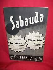 F. FERRARI Sai chi fu? (F. Riva) + Fiore Blu (Perrera/De Santis) 1949 Spartiti