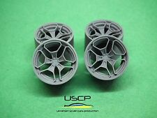 Resin wheels 20 inch Rotiform HUR 1/24 for Aoshima Fujimi Tamiya