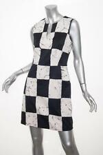 KELLY WEARSTLER $495 Black+White Cotton Sleeveless Check Print Dress 8/M NEW NWT