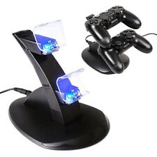 Dual USB LED Charger Dock Station Fast Charging Stand PlayStation PS4 Controller
