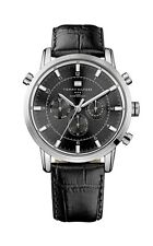 Tommy Hilfiger Men 1790875 Multi-Function Black Croco Leather Watch