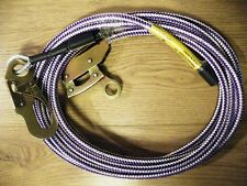 TREE SURGEON, ARBORIST - STEEL WIRE CORE FLIPLINE COMPLETE WITH ROPE GRAB & HOOK