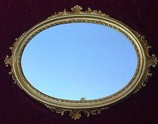 Wandspiegel Gold Oval Barock Antik Bad Spiegel 62x48 Flurspiegel C12 Barspiegel